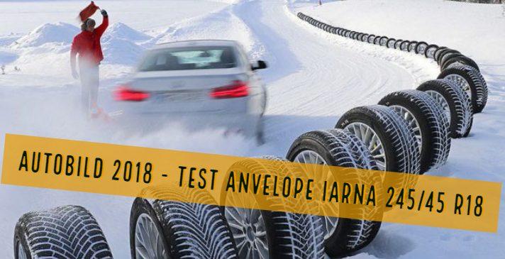 Test anvelope de iarna 245/45R18 – Autobild 2018